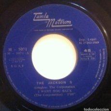 Discos de vinilo: THE JACKSON 5 - I WANT YOU BACK / WHO'S LOVIN YOU - SINGLE 1969 - MOTOWN. Lote 148576026