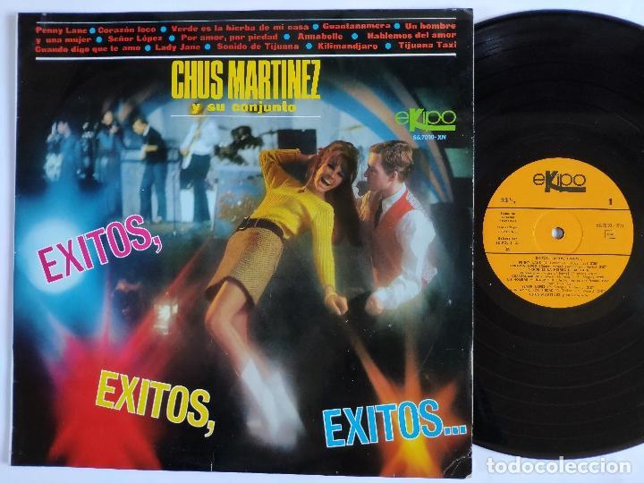 CHUS MARTINEZ Y SU CONJUNTO - LP SPAIN PS - MINT * EXITOS, EXITOS, EXITOS (Música - Discos - LP Vinilo - Grupos Españoles 50 y 60)
