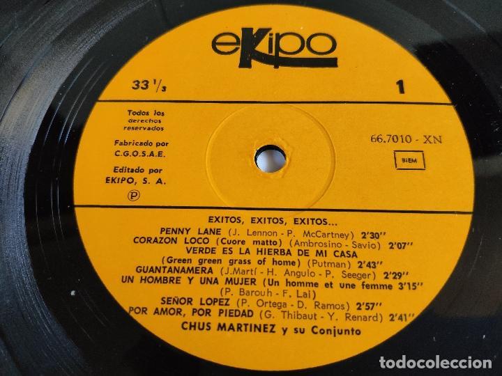 Discos de vinilo: CHUS MARTINEZ Y SU CONJUNTO - LP Spain PS - MINT * Exitos, Exitos, Exitos - Foto 3 - 148594894