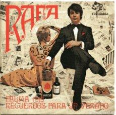 Discos de vinilo: RAFA / PALMA 1919 (VI FESTIVAL DE MALLORCA) RECUERDOS PARA UN VERANO (SINGLE 1969). Lote 148606598