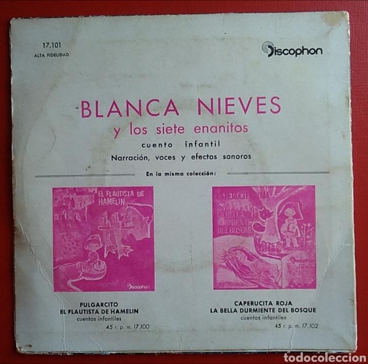 Discos de vinilo: Disco vinilo pequeño blancanieves discophon - Foto 2 - 148634081