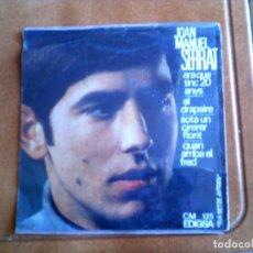 Discos de vinilo: DISCO DE JUAN MANUEL SERRAT INCLUYE 4 TEMAS AÑO ,1966. Lote 148639418
