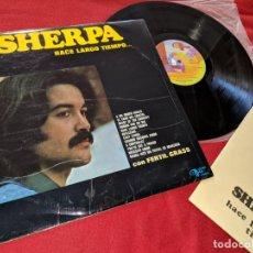 Discos de vinilo: SHERPA & FERTIL GRASS HACE LARGO TIEMPO LP 1974 GMA PROMO EXCELENTE ESTADO *MUY RARO* BARON ROJO. Lote 199424326