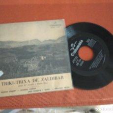 Discos de vinilo: TRIKI TRIXA DE ZALDIBAR / AMA ZEURIAK EZANDIT/ EP 45 EPM / CINSA 1960. Lote 148652242