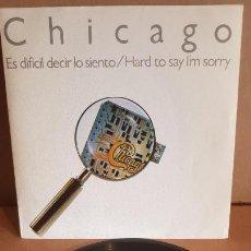 Discos de vinilo: CHICAGO / ES DIFÍCIL DECIR LO QUE SIENTO / SG - FULL MOON - 1982 / CALIDAD LUJO. ****/****. Lote 148661170