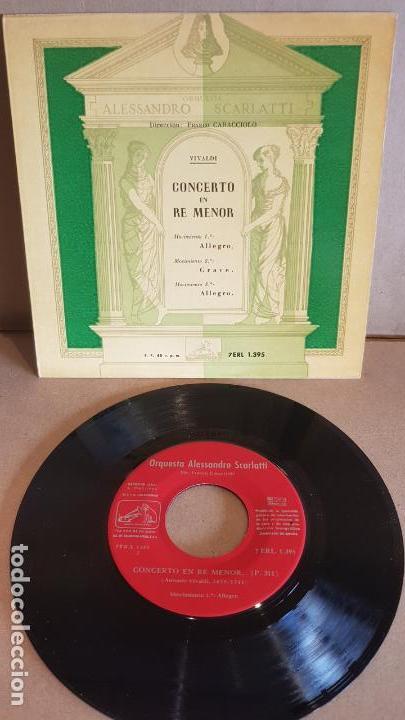 ORQUESTA ALESSANDRO SCARLATTI / CONCERTO EN RE MENOR - VIVALDI / EP-1960 / MBC. ***/*** (Música - Discos de Vinilo - EPs - Clásica, Ópera, Zarzuela y Marchas)