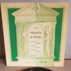Discos de vinilo: ORQUESTA ALESSANDRO SCARLATTI / CONCERTO EN RE MENOR - VIVALDI / EP-1960 / MBC. ***/***. Lote 148666526
