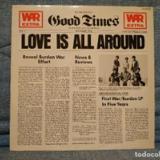Discos de vinilo: WAR FEATURING ERIC BURDON - LOVE IS ALL AROUND - LP 12'' ESPAÑA - LAX RECORDS ?– ZL-252 COMO NUEVO. Lote 148666870