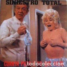 Discos de vinilo: SINIESTRO TOTAL - CUANTA PUTA Y YO QUE VIEJO - SINGLE. Lote 148672054
