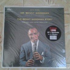Discos de vinilo: MR. BENNY GOODMAN-THE BENNY GOODMAN STORY- LP+FASCICULO PRECINTADO NUEVO. . Lote 148677878