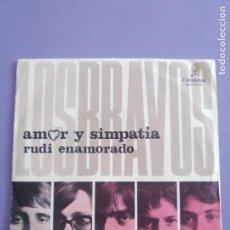 Discos de vinilo: SINGLE.SPAIN 1969. LOS BRAVOS-AMOR Y SIMPATIA/RUDI ENAMORADO.COLUMBIA MO 709/MOD SOUL STOMPER+SKA. Lote 148680566