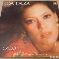 Discos de vinilo: ELSA BAEZA. CREDO / LA CARMEN ASEADA. CBS 1977.. Lote 148723602