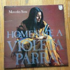 Discos de vinilo: MERCEDES SOSA HOMENAJE A VIOLETA PARRA. Lote 148726166