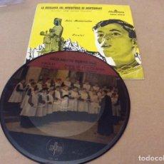 Discos de vinilo: ESCOLANIA DEL MONASTERIO DE MONTSERRAT. VIROLAI. SINGLE PICTURE. LOTE 2 SINGLES. Lote 148731614