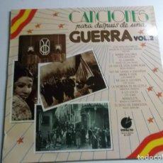Discos de vinilo: CANCIONES PARA DESPUES DE UNA GUERRA -VOL.2. Lote 148764262