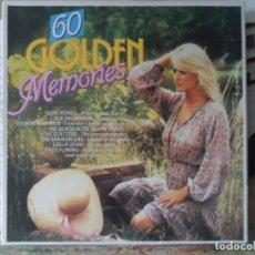 Discos de vinilo: *** 60 GOLDEN MEMORIES - TRIPLE LP - 19?? - LEER DESCRIPCIÓN. Lote 148783258