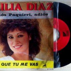 Discos de vinilo: EMILIA DÍAZ - ADIOS, PAQUIRRI, ADIOS - SINGLE 1986 - SOLO 1 CARA - OPEN RECORDS. Lote 153163405