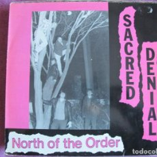 Discos de vinilo: LP - SACRED DENIAL - NORTH OF THE ORDER (GERMANY, NUCLEAR BLAST RECORDS 1988). Lote 148808666