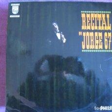 Discos de vinilo: LP - JORGE - RECITAL 67 (SPAIN, PHILIPS 1967). Lote 148817942
