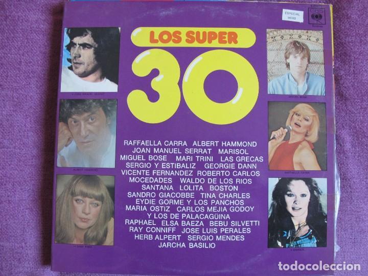 LP - LOS SUPER 30 - VARIOS (VER FOTO ADJUNTA) (DOBLE DISCO, SPAIN, CBS 1977) (Música - Discos - LP Vinilo - Solistas Españoles de los 70 a la actualidad)