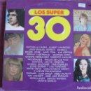 Discos de vinilo: LP - LOS SUPER 30 - VARIOS (VER FOTO ADJUNTA) (DOBLE DISCO, SPAIN, CBS 1977). Lote 148823294