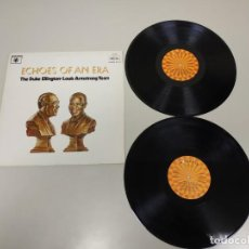 Discos de vinilo: J- ECHOES OF AN ERA THE DUKE ELLINTON & L ARMSTRONG YEARS PORT VG++ DISC VG+/++. Lote 148823454