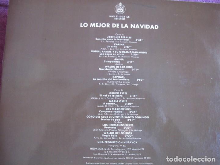 Discos de vinilo: LP - LO MEJOR DE LA NAVIDAD - VARIOS (VER FOTO ADJUNTA) (SPAIN, HISPAVOX 1975) - Foto 2 - 148825670