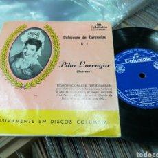 Discos de vinilo: PILAR LORENGAR EP EL CANASTILLO DE FRESAS 4 TEMAS. Lote 148834400