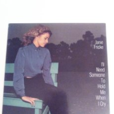 Discos de vinilo: JANIE FRICKE I'LL NEED SOMEONE TO HOLD ME WHEN I CRY ( 1982 CBS UK ) COUNTRY MUY BUEN ESTADO. Lote 148855002