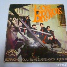 Discos de vinilo: SINGLE. LOS BRINCOS. BORRACHO / SOLA. 1966. NOVOLA. Lote 164853416