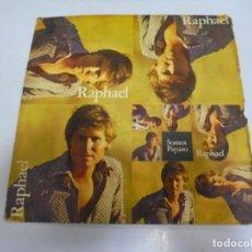 Discos de vinilo: SINGLE. RAPHAEL. SOMOS / PAYASO. 1970. HISPAVOX. Lote 148875146