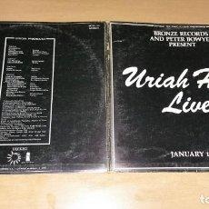 Discos de vinilo: LP DOBLE URIAH HEEP LIVE - ISLAND 1973 SPAIN CON LIBRETO FOTOS. Lote 148894830