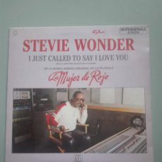 Discos de vinilo: STEVIE WONDER I JUST CALLED TO SAY I LOVE YOU 1984 MOTOWN RECORDS #. Lote 148895470