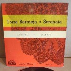 Discos de vinilo: ORQUESTA SINFÓNICA ESPAÑOLA / TORRE BERMEJA / EP - REGAL - 1958 / MBC. ***/***. Lote 148895986