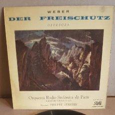 Discos de vinilo: WEBER / DER FREISCHÜTZ - OBERTURA / EP - PATHÉ-1960 / MBC.***/***. Lote 148897246