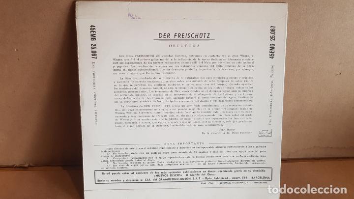 Discos de vinilo: WEBER / DER FREISCHÜTZ - OBERTURA / EP - PATHÉ-1960 / MBC.***/*** - Foto 2 - 148897246