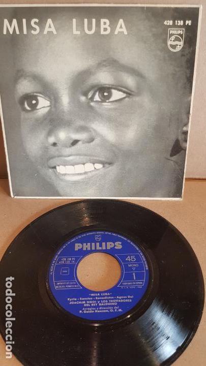 JOACHIM NGOI Y LOS TROVADORES DEL REY BALDUINO / MISA LUBA / SG-PHILIPS-1962 / LUJO. ****/**** (Música - Discos - Singles Vinilo - Funk, Soul y Black Music)