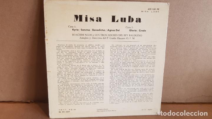 Discos de vinilo: JOACHIM NGOI Y LOS TROVADORES DEL REY BALDUINO / MISA LUBA / SG-PHILIPS-1962 / LUJO. ****/**** - Foto 2 - 148909170