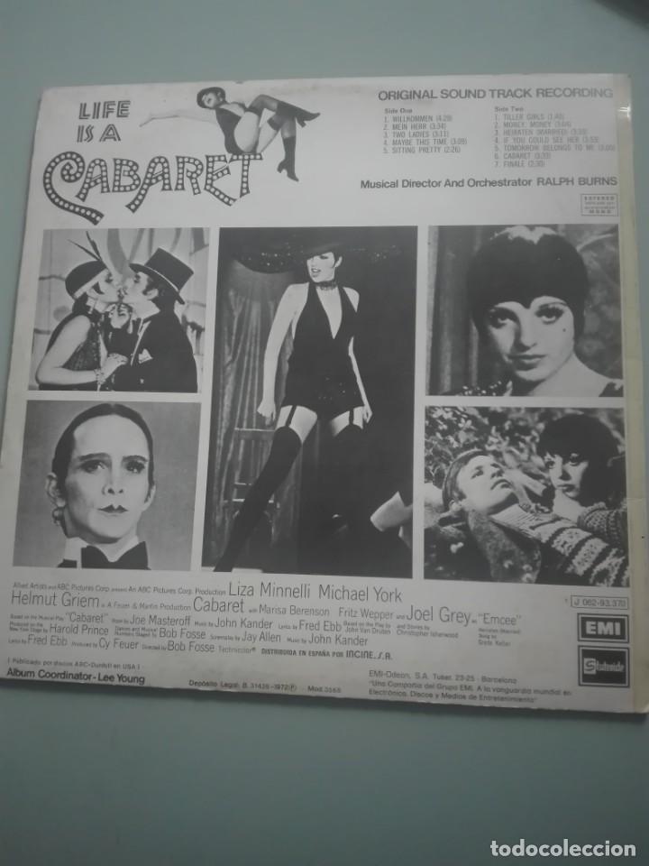 Discos de vinilo: CABARET 1972 EMI ODEON# - Foto 2 - 148910778