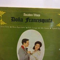 Discos de vinilo: BJS.DISCO DE VINILO.LP.AMADEO VIVES.DOÑA FRANCISQUITA.HISPA VOX.DOBLE.. Lote 148931218