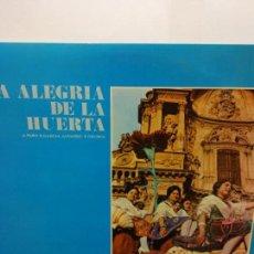 Discos de vinilo: BJS.DISCO DE VINILO.LP.LA ALEGRIA DE LA HUERTA.COLUMBIA.. Lote 148931958
