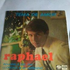 Discos de vinilo: DISCO PEQUEÑO RAPHAEL AÑO 1967. Lote 148936764
