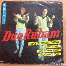 Discos de vinilo: EP DUO RUBAM/TODOS LOS CHICOS Y CHICAS/MADISON KID/TODO YA PASO JOEY/MI PEQUEÑO TREN . Lote 148936790