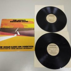 Discos de vinilo: J- THE ALLMAN BROTHERS BAND THE ROAD GOES ON FOREVER DISC LP PORT VG + DIC VG + . Lote 148942366