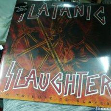 Discos de vinilo: SLATANIC SLAUGHTER DOBLE LP A TRIBUTE TO SLAYER. Lote 148947730