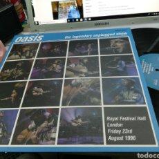 Discos de vinilo: OASIS LP NO OFICIAL THE LEGENDARY UNPLUGGED SHOW PRECINTADO. Lote 248231690