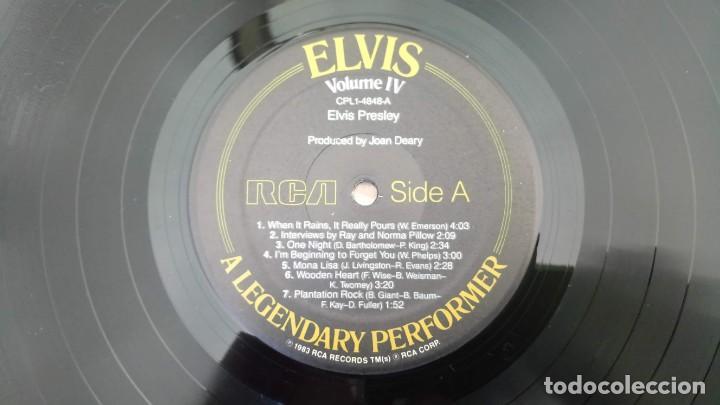 Discos de vinilo: ELVIS PRESLEY - A LEGENDARY PERFORMER VOLUME 4 - LP - CPL1-4848 - USA 1983 - Foto 4 - 148963938
