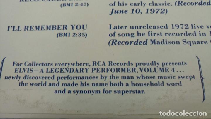 Discos de vinilo: ELVIS PRESLEY - A LEGENDARY PERFORMER VOLUME 4 - LP - CPL1-4848 - USA 1983 - Foto 6 - 148963938