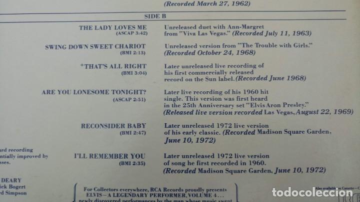 Discos de vinilo: ELVIS PRESLEY - A LEGENDARY PERFORMER VOLUME 4 - LP - CPL1-4848 - USA 1983 - Foto 8 - 148963938