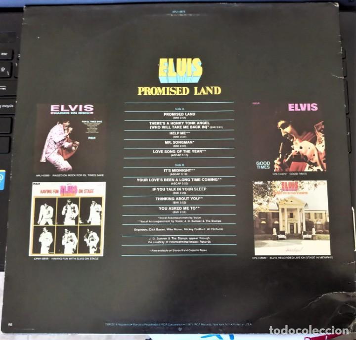 Discos de vinilo: ELVIS PRESLEY - PROMISED LAND - LP - AFL1-0873 RCA VICTOR - USA - Foto 2 - 148970622